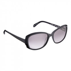 Elsa Lee Paris sunglasses, classic plastic frame in black, with Elsa Lee symbol on the inside of the temples