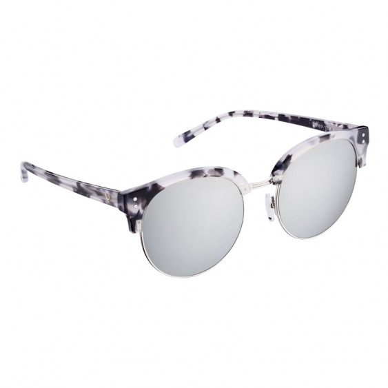 Elsa Lee Paris sunglasses, modern semi rimless frame made of plastic and metal in black and grey