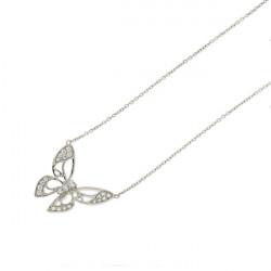 Collier Elsa Lee Paris, modèle Papillon en argent et pavé d'oxydes de Zirconium