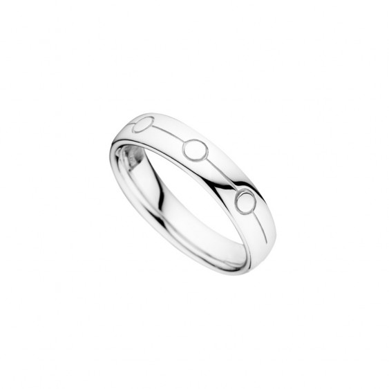 Men wedding ring from Elsa Lee Paris, crafted in sterling silver, geometric circles