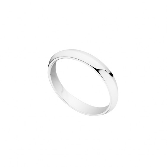 Simply designed wedding ring for men by Elsa Lee Paris, crafted in sterling silver