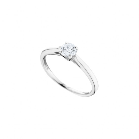 Bague Elsa Lee Paris, collection Tradition, en argent 925 et oxyde de ZIrconium serti quatre griffes