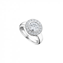 Bague Elsa Lee Paris, collection Tradition, en Argent 925, avec oxydes de Zirconium sertis clos