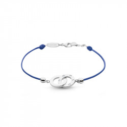 Elsa Lee Paris Linked Clear Spirit bracelet, with circle shaped pattern crafted in silver and trimmed with Cubic Zirconia