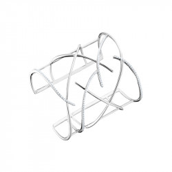 Silver cross bangle by Elsa Lee PARIS