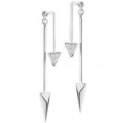 Elsa Lee boucles d'oreilles en argent 925 rhodiage - design modern 2 en 1