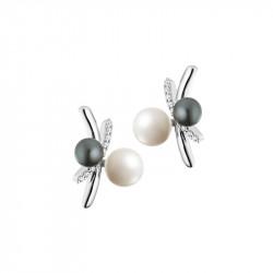 Boucles d'oreilles Black & White