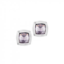 Elsa Lee Paris fine 925 sterling silver earrings with 2 close set aquamarine Cubic Zirconia