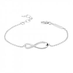 Elsa Lee Paris - Bracelet en argent rhodié 5 oxydes de zirconium 1,25mm 0,10ct - 16 oxydes de zirconium 0,16ct