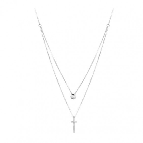 plated white s com zirconia infinity cubic gold amazon yl necklace with women silver pendant sterling dp cross