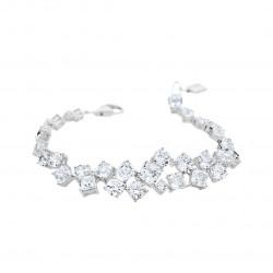 Bracelet Elsa Lee Paris tour de bras, Argent 925, avec oxydes de Zirconium blancs