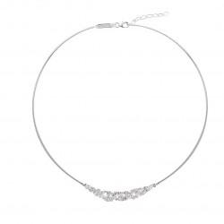 Collier rigide Elsa Lee Paris, motif voile avec multiples oxydes de Zirconium différentes tailles