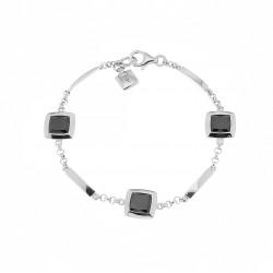 Elsa Lee Paris - Bracelet en argent 925 rhodié et oxydes de Zirconium sertis clos