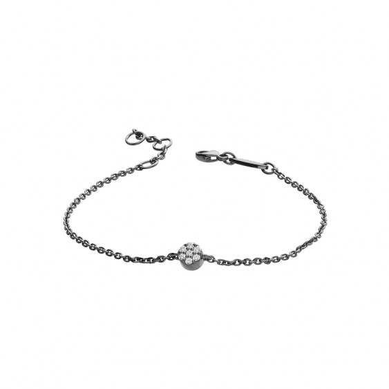 Black silver Solo Bracelet