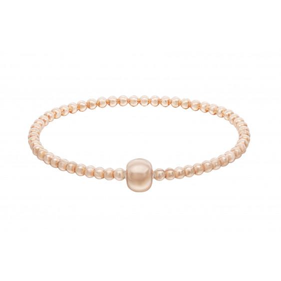Elsa Lee Paris - Bracelet élastique en argent 925 rhodié et flash rosé