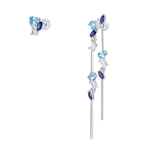 Asymmetrical Aquamarine Earrings