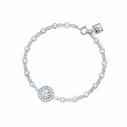 Bracelet Elsa Lee Paris, en Argent 925, avec un oxyde de Zirconium blanc sertis clos et brillants sur le bracelet