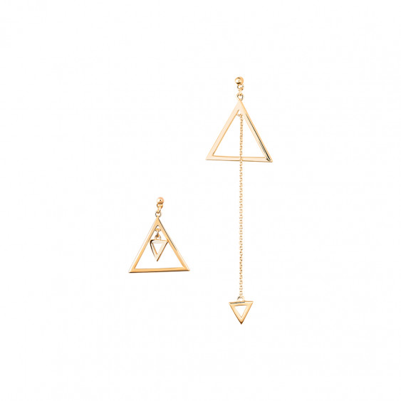 boucle d'oreille triangulaire
