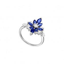 Sapphire Daisy Ring