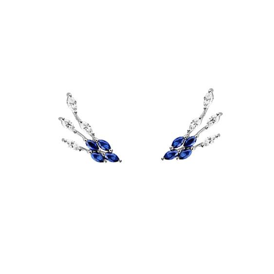 Sapphire Daisy Earrings