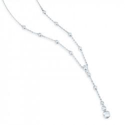 Collier pendant Elsa Lee Paris, Argent 925, différents oxydes de Zirconium sertis clos sur une chaine en argent