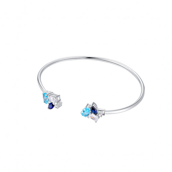 Bracelet Jonc Aquamarine