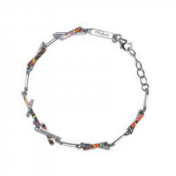 Bracelet en email de couleur et design graphique par Elsa Lee Paris