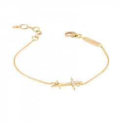 Bracelet chaîne en or jaune forme croix Stella