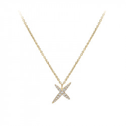 Chain necklace pendant yellow gold plated star pendant