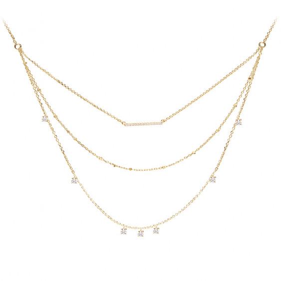 collier argent trois rangs