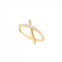 Bague en forme d'étoile plaqué or jaune de la collection Stella