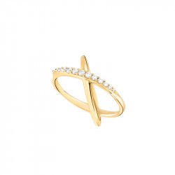 Yellow gold star-shaped ring from the Stella collection