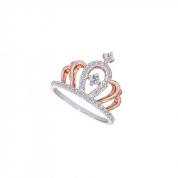 Bague couronne argent plaqué or rose dela collection Queen