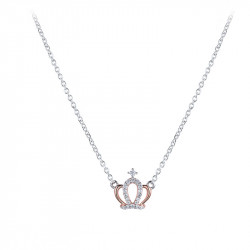 Queen necklace in silver and rose gold Queen collection