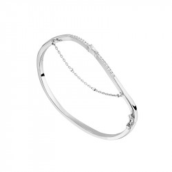 Bracelet jonc allure rock en argent 925 de la collectionAlizée