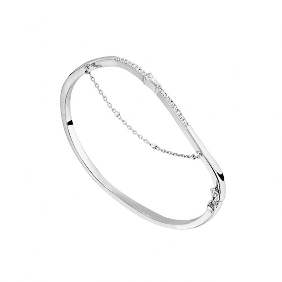 Sterling silver bangle from the Alizée collection by Elsa Lee Paris