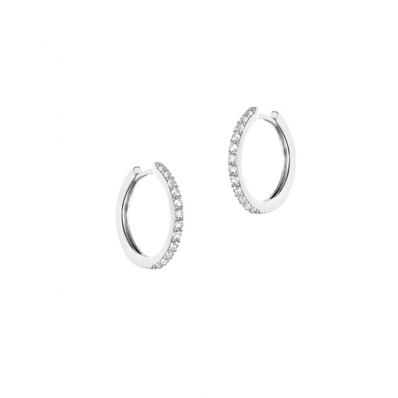 Tradition hoop earrings in 925 silver signed Elsa Lee Paris