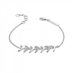 Bracelet feuilles stylisées en argent inspiré de la haute joaillerie