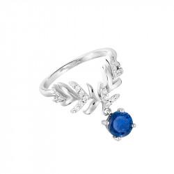 Bague pierre bleue et argent inspirée de la haute joaillerie par Elsa Lee Paris
