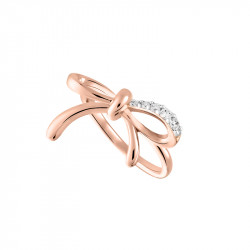 Betty Bow ring in Rose gold silver for an elegant and girly style by Elsa Lee Paris