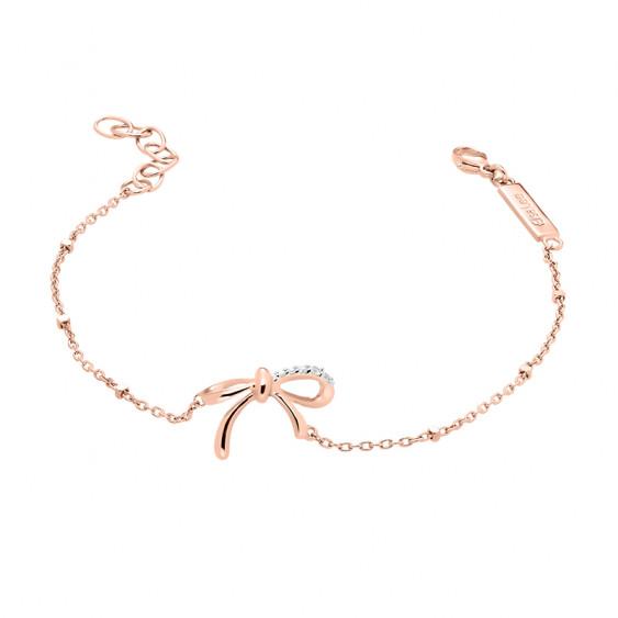 Rose gold silver Bow Bracelet by Elsa Lee Paris