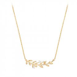Collier pendentif style couronne de lauriers, argent 925