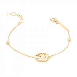 Bracelet Arbre de Vie dorée en argent signé Elsa Lee Paris