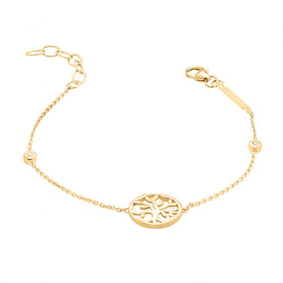 Tree of life Bracelet in gilding silver by Elsa Lee Paris