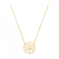 Golden Tree of life necklace in silver by Elsa Lee Paris