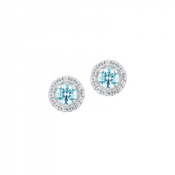 Aquamarine studs earrings in 925 silver from the Tradition collection by Elsa Lee Paris