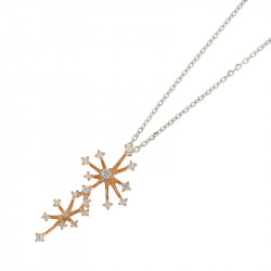 Glitter necklace in silver and rose gold by Elsa Lee Paris