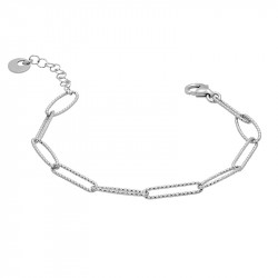 Hammered silver link bracelet by Elsa Lee Paris