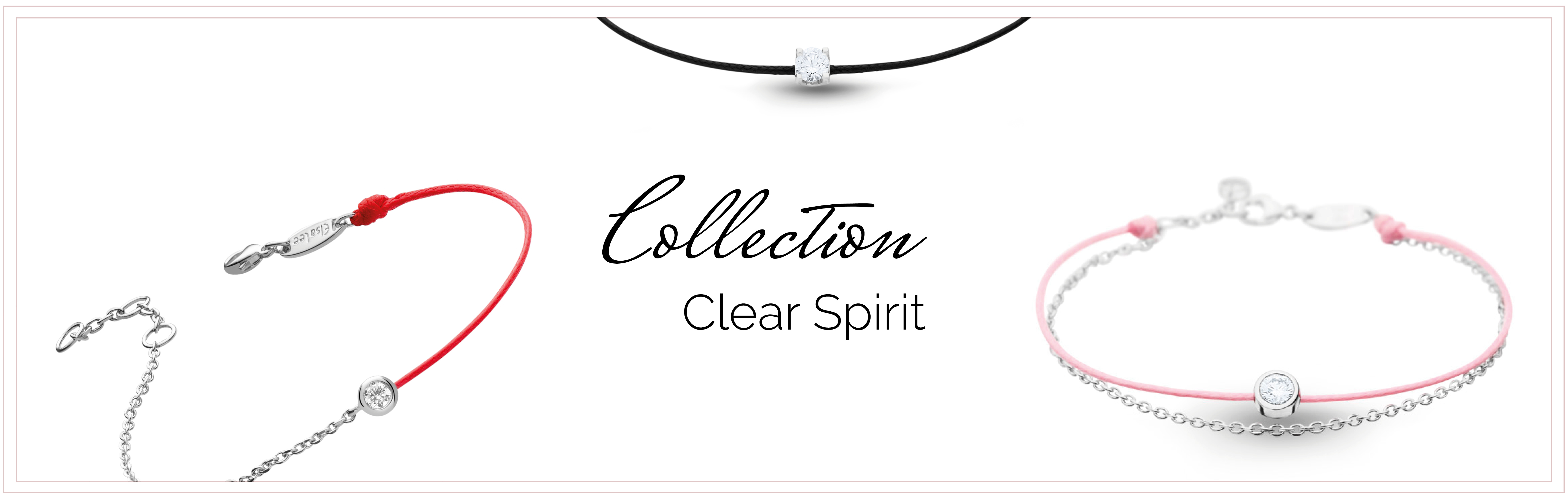 bracelets cordon argent rhodié collection clear spirit