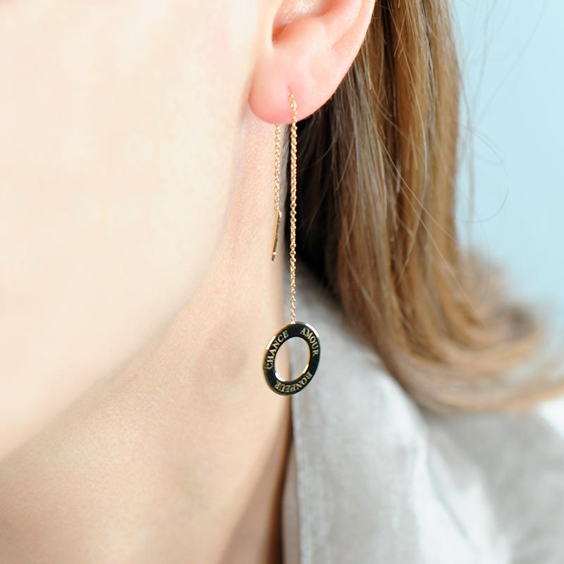 Boucles d'oreilles argent et or fin bohème